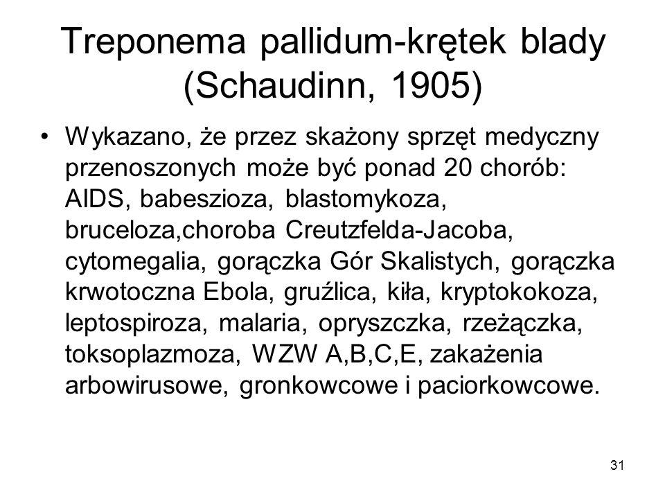 Treponema pallidum-krętek blady (Schaudinn, 1905)