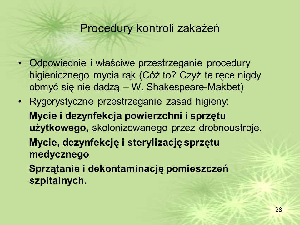 Procedury kontroli zakażeń