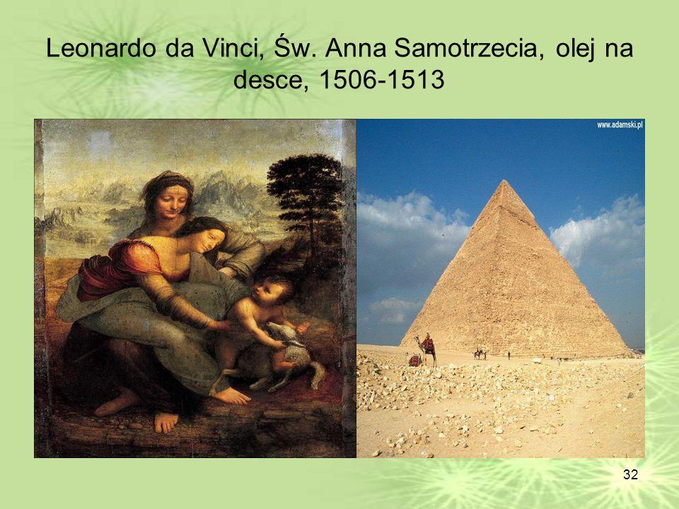 Leonardo da Vinci, Św. Anna Samotrzecia, olej na desce, 1506-1513