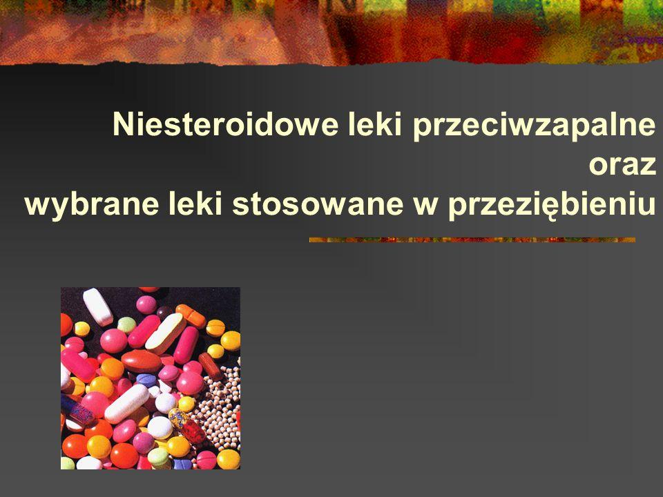 Niesteroidowe leki przeciwzapalne oraz wybrane leki stosowane w przeziębieniu