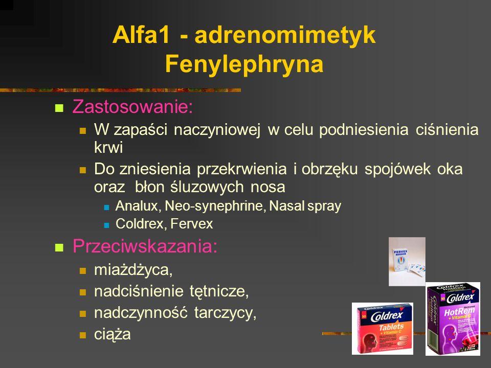 Alfa1 - adrenomimetyk Fenylephryna