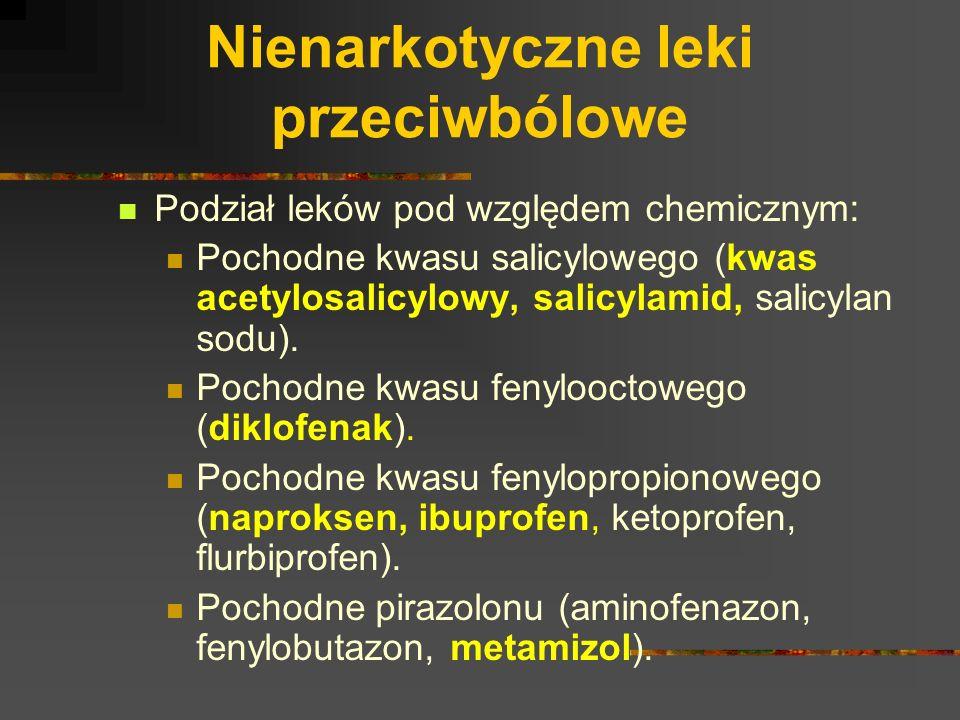 Nienarkotyczne leki przeciwbólowe