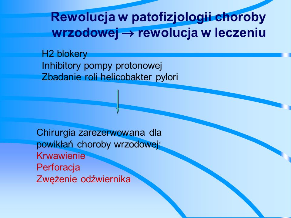 Rewolucja w patofizjologii choroby wrzodowej  rewolucja w leczeniu
