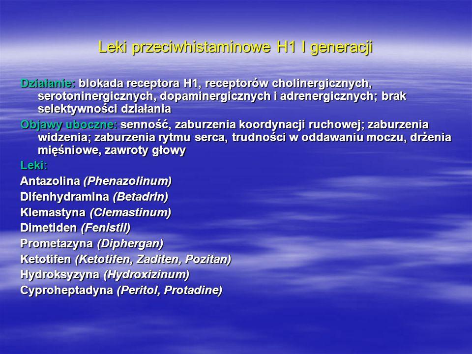 Leki przeciwhistaminowe H1 I generacji
