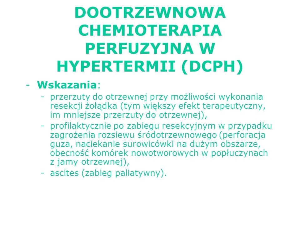 DOOTRZEWNOWA CHEMIOTERAPIA PERFUZYJNA W HYPERTERMII (DCPH)