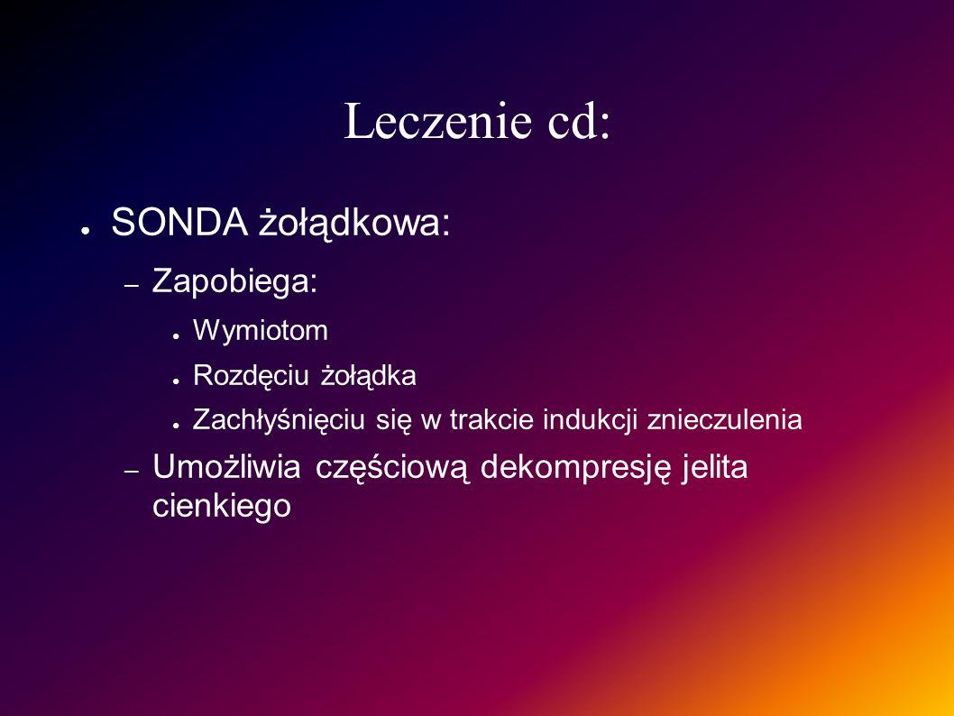 Leczenie cd: SONDA żołądkowa: Zapobiega: