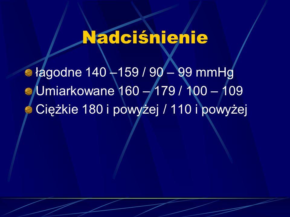 Nadciśnienie łagodne 140 –159 / 90 – 99 mmHg