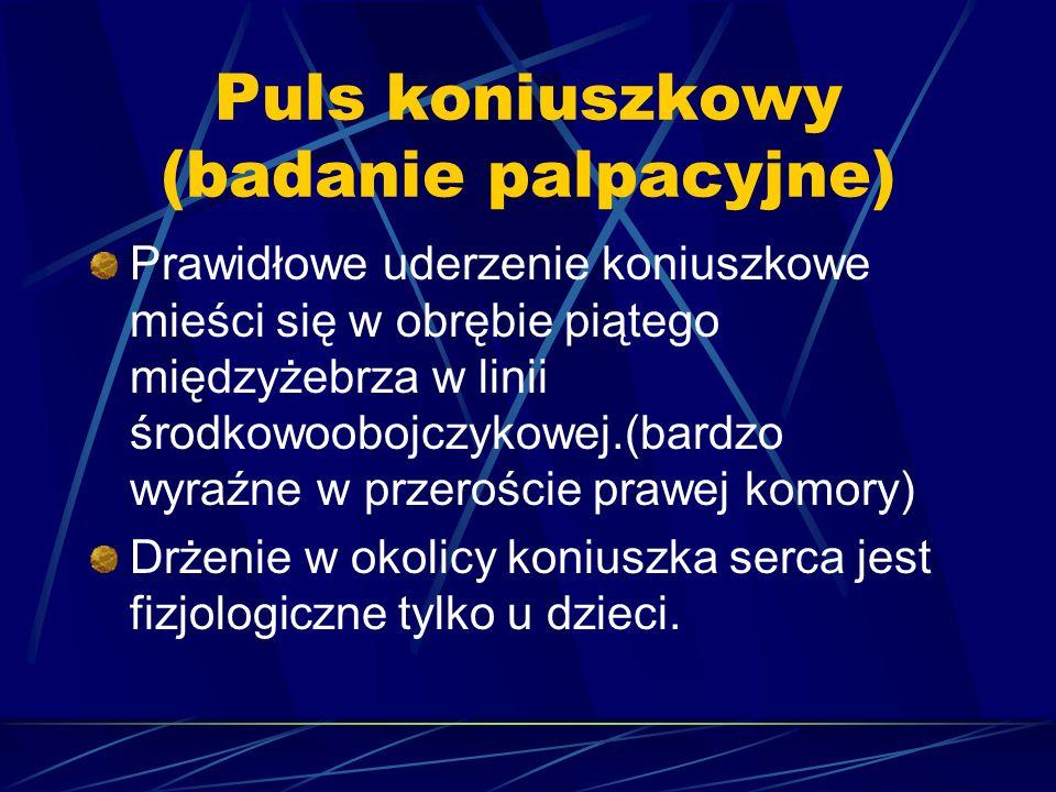 Puls koniuszkowy (badanie palpacyjne)
