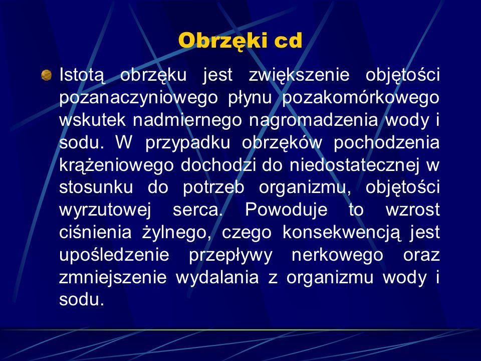 Obrzęki cd