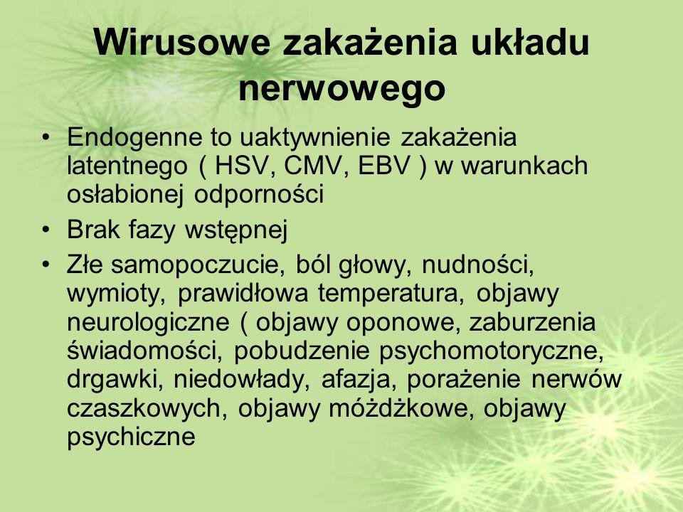 Wirusowe zakażenia układu nerwowego
