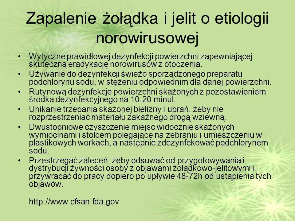 Zapalenie żołądka i jelit o etiologii norowirusowej