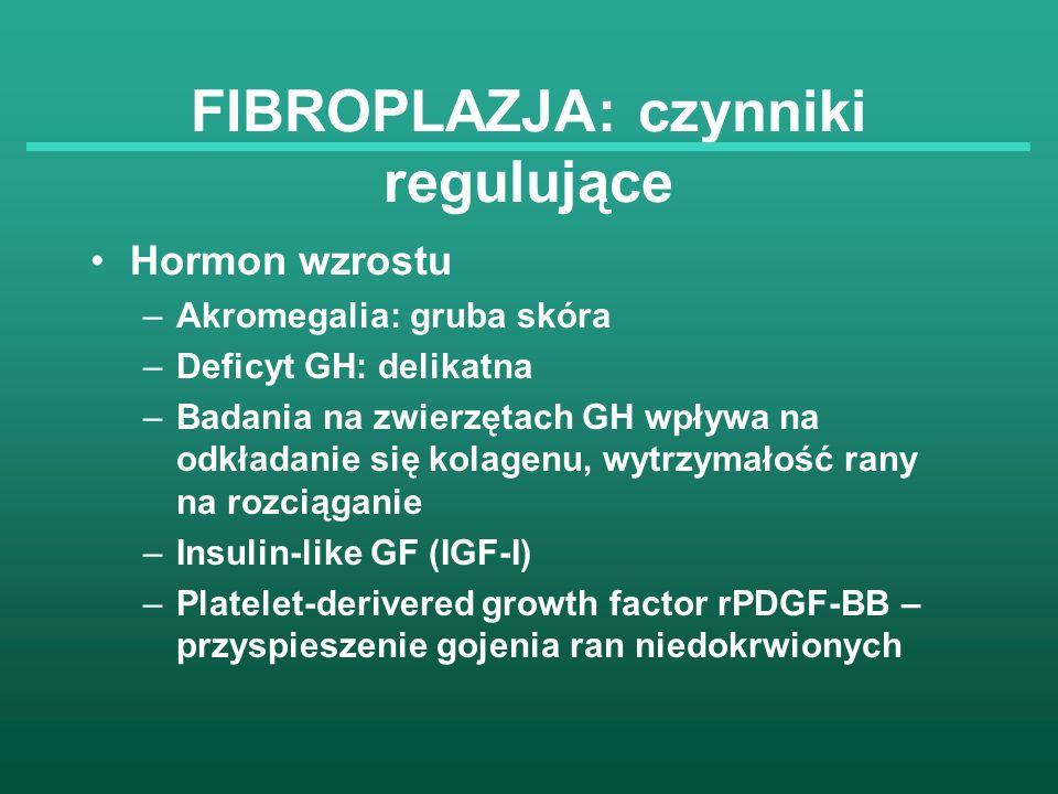 FIBROPLAZJA: czynniki regulujące
