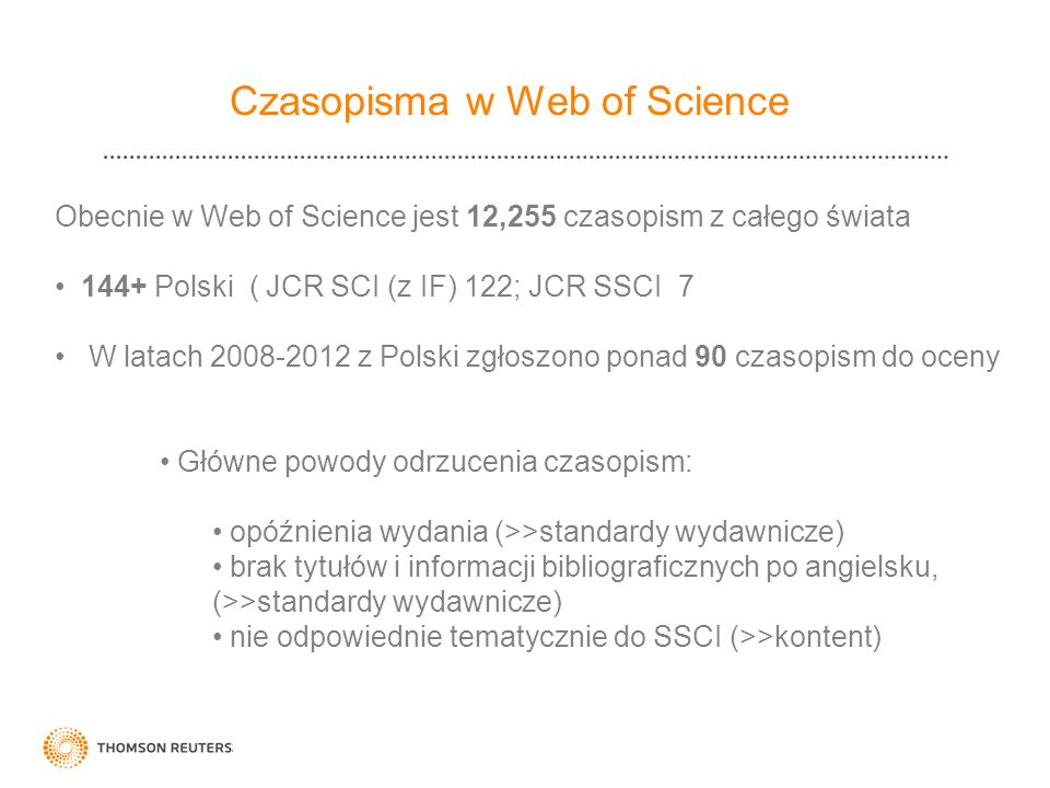 Czasopisma w Web of Science