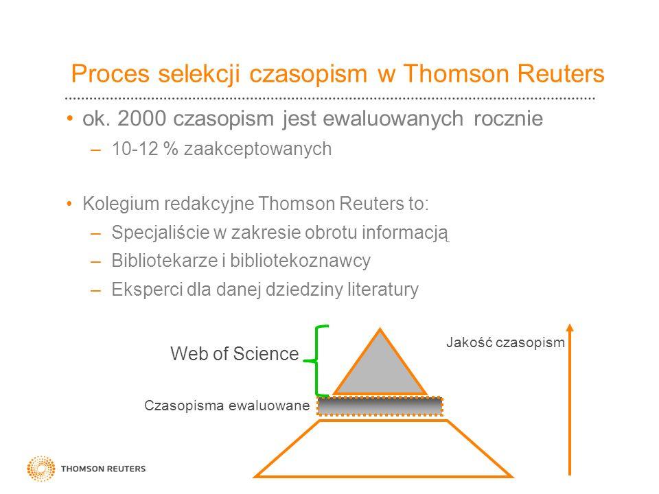 Proces selekcji czasopism w Thomson Reuters
