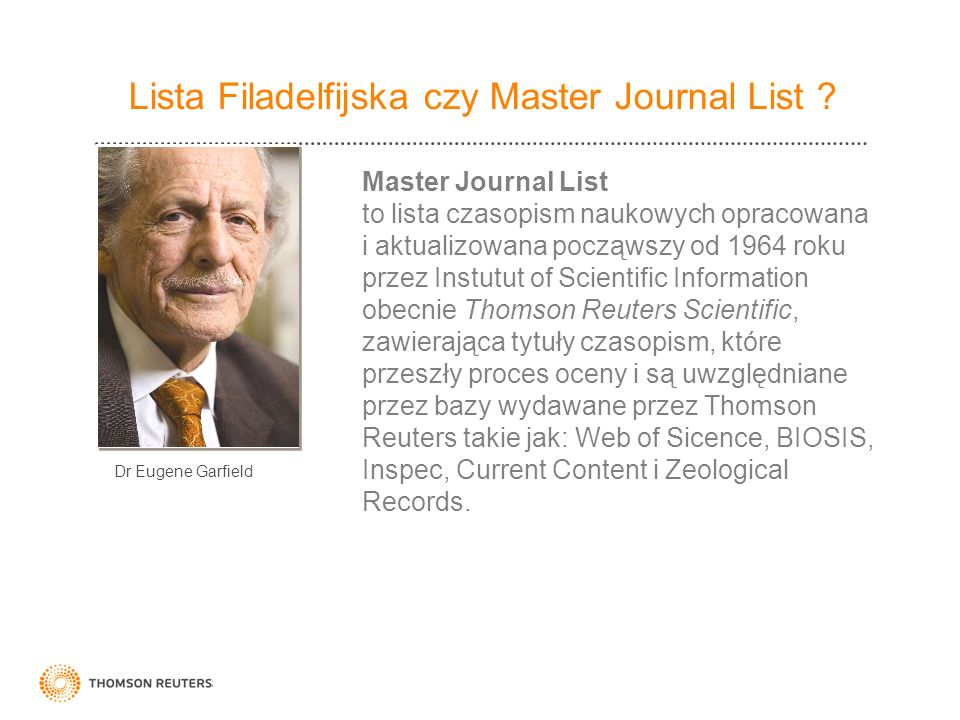 Lista Filadelfijska czy Master Journal List