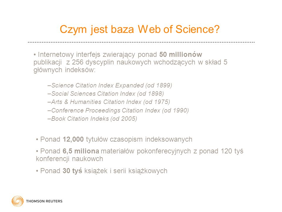 Czym jest baza Web of Science
