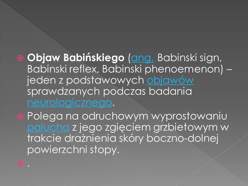 Objaw Babińskiego (ang