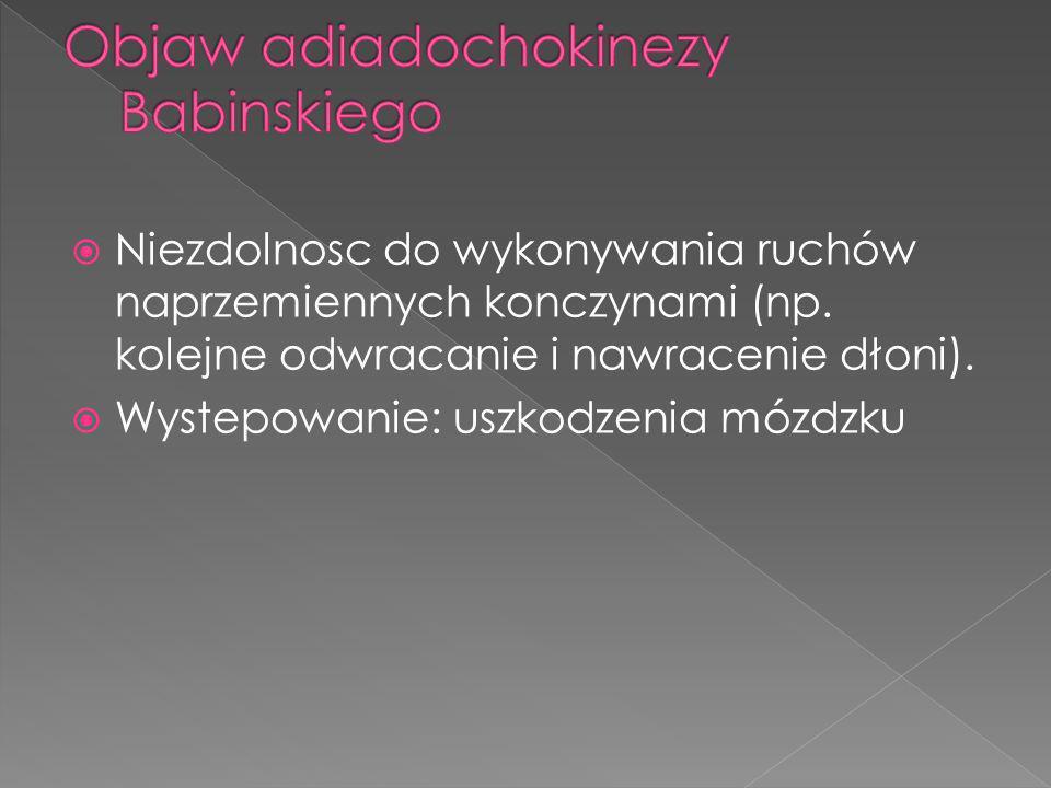 Objaw adiadochokinezy Babinskiego