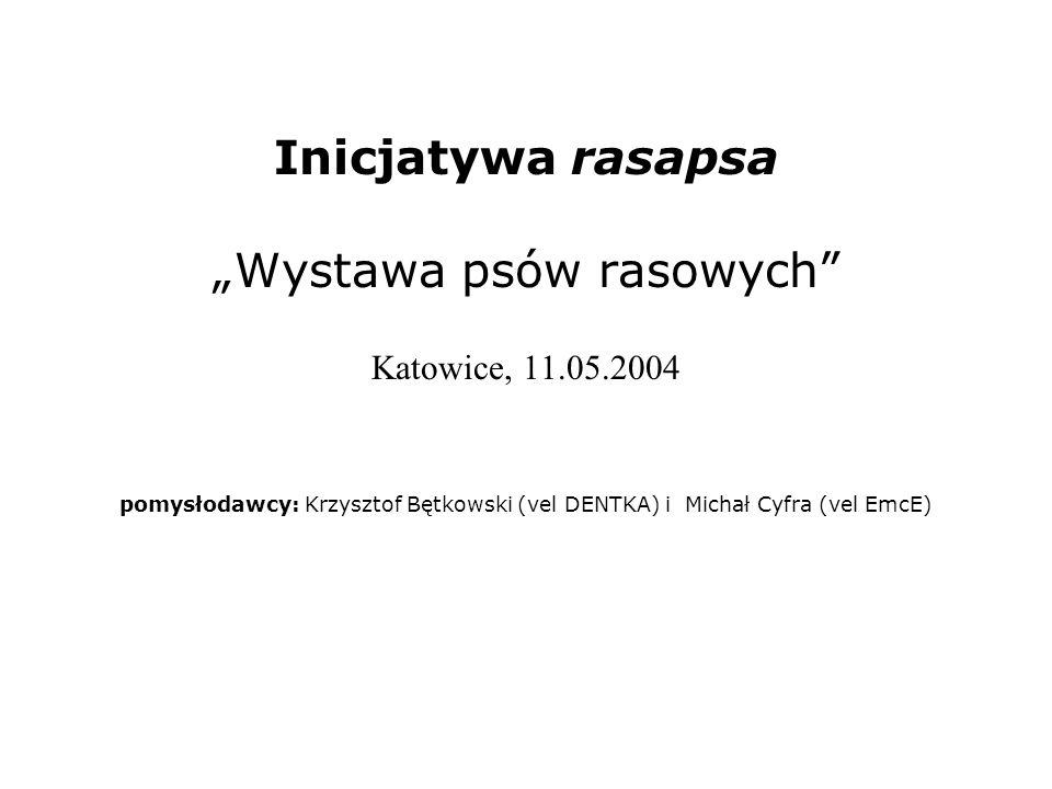 """Inicjatywa rasapsa """"Wystawa psów rasowych Katowice, 11. 05"""