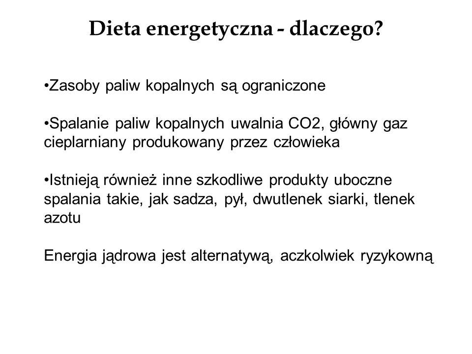 Dieta energetyczna - dlaczego