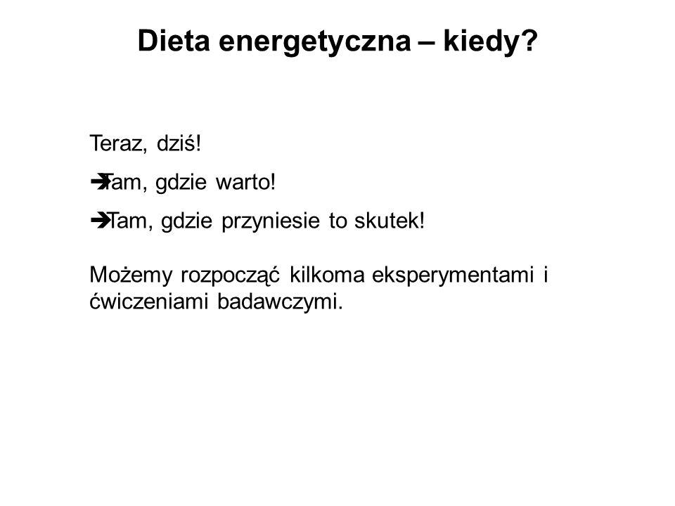 Dieta energetyczna – kiedy