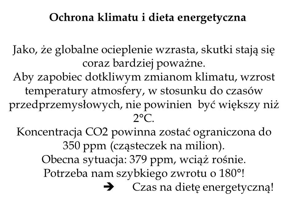 Ochrona klimatu i dieta energetyczna