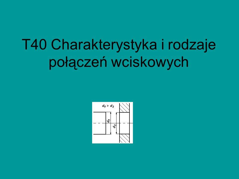 T40 Charakterystyka i rodzaje połączeń wciskowych