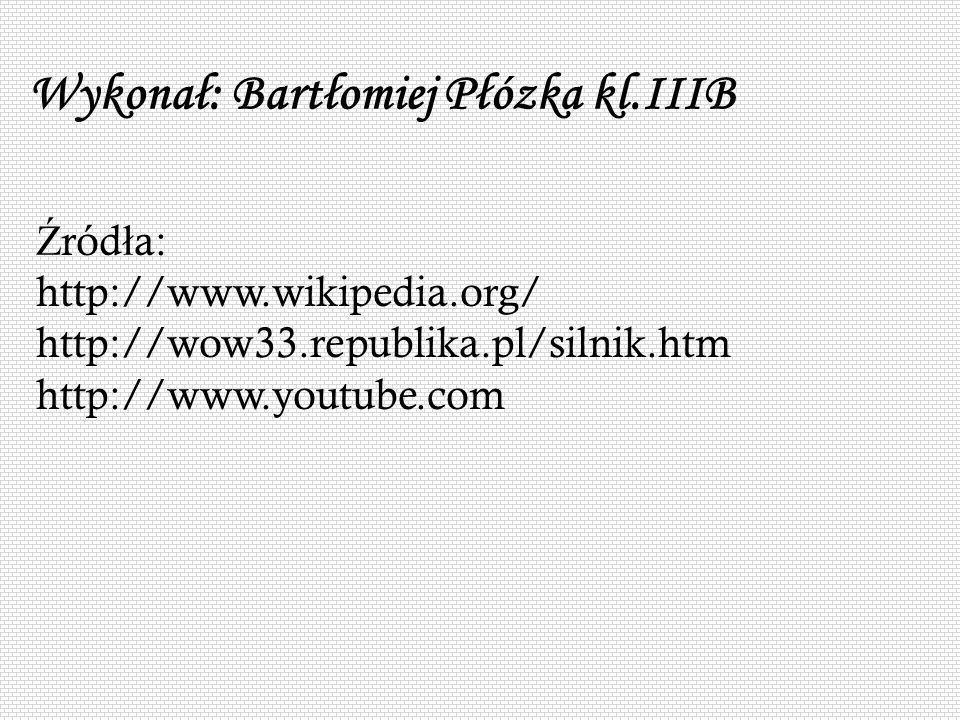Wykonał: Bartłomiej Płózka kl.IIIB