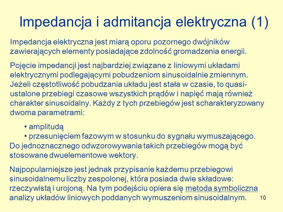 Impedancja i admitancja elektryczna (1)
