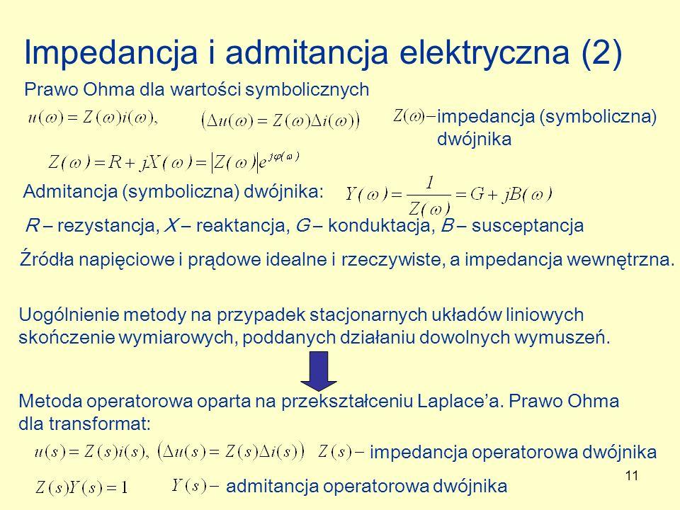 Impedancja i admitancja elektryczna (2)