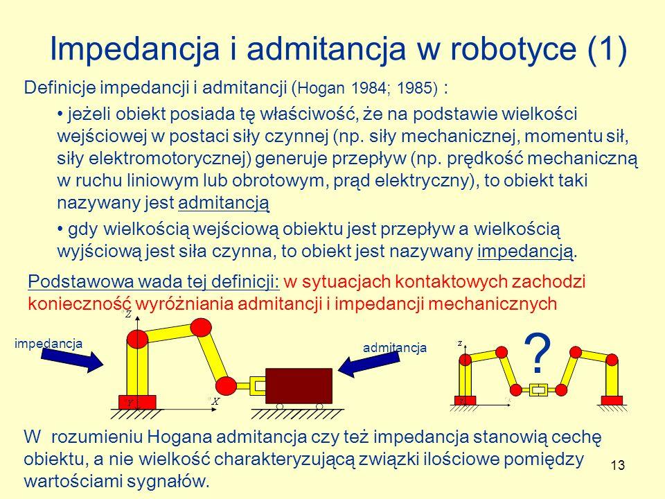 Impedancja i admitancja w robotyce (1)