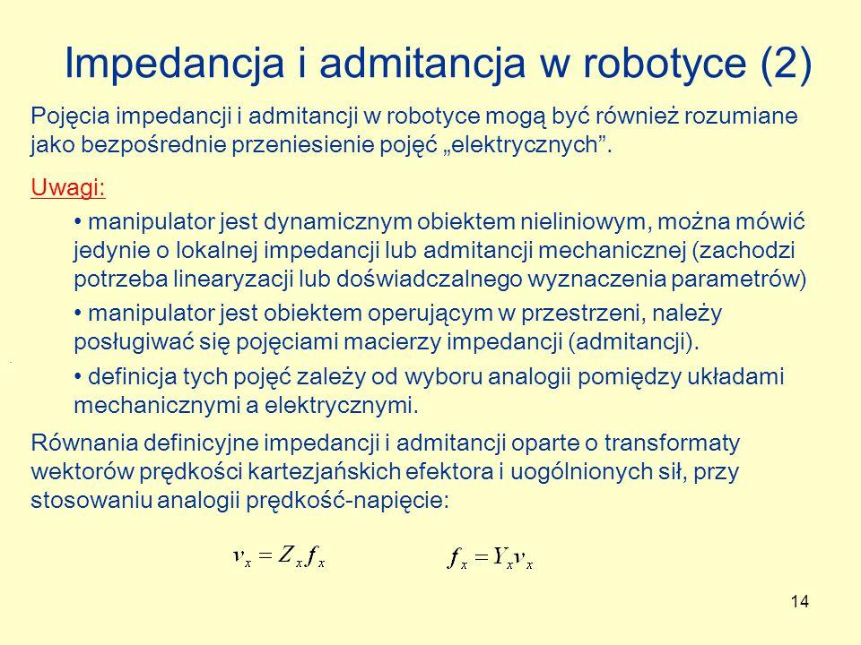 Impedancja i admitancja w robotyce (2)