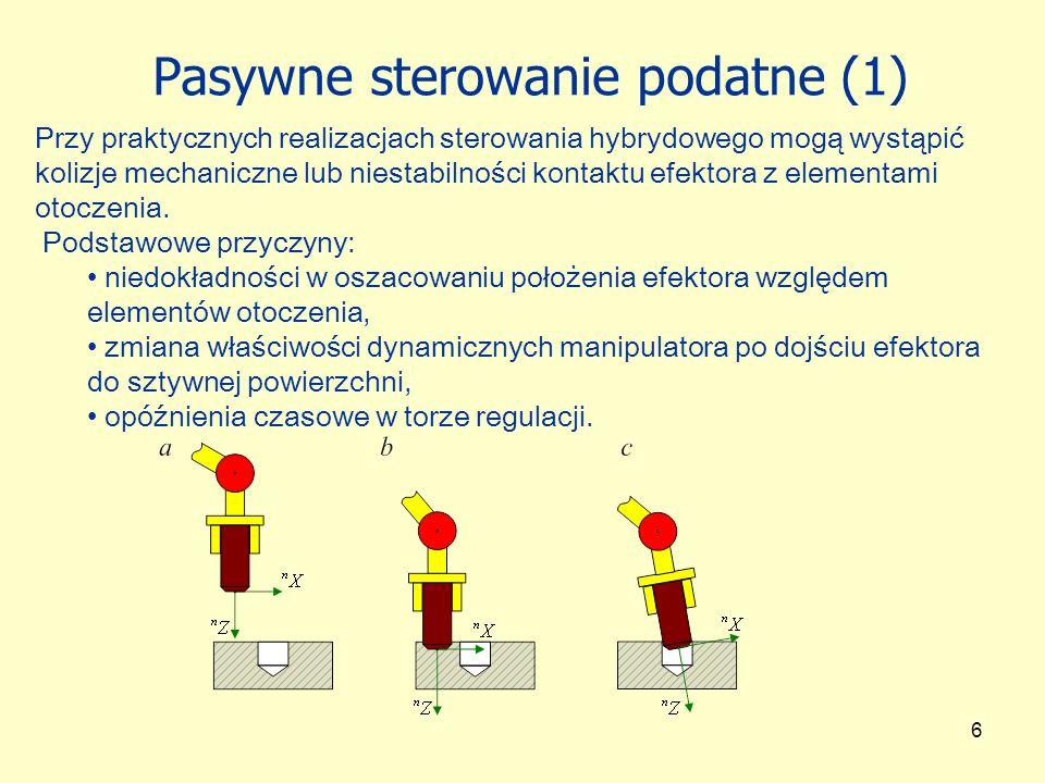 Pasywne sterowanie podatne (1)