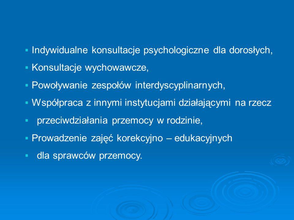 Indywidualne konsultacje psychologiczne dla dorosłych,