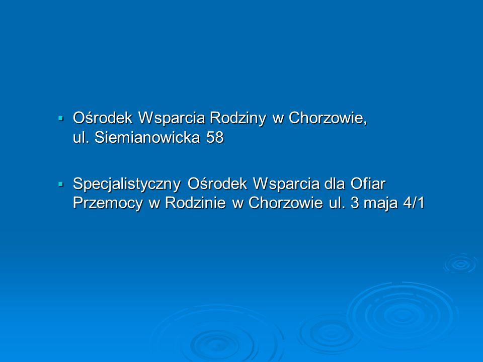 Ośrodek Wsparcia Rodziny w Chorzowie, ul. Siemianowicka 58