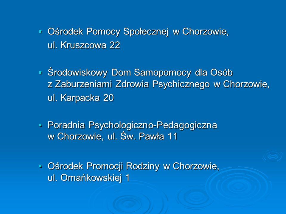 Ośrodek Pomocy Społecznej w Chorzowie, ul. Kruszcowa 22