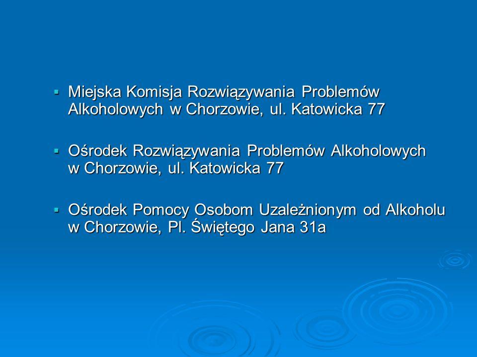 Miejska Komisja Rozwiązywania Problemów Alkoholowych w Chorzowie, ul