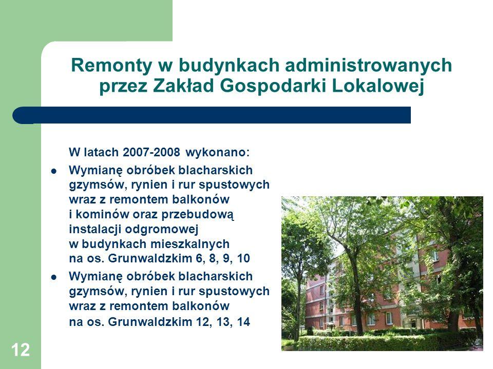 Remonty w budynkach administrowanych przez Zakład Gospodarki Lokalowej