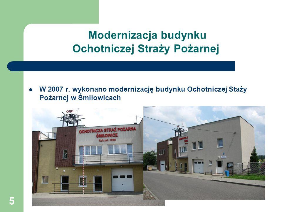 Modernizacja budynku Ochotniczej Straży Pożarnej