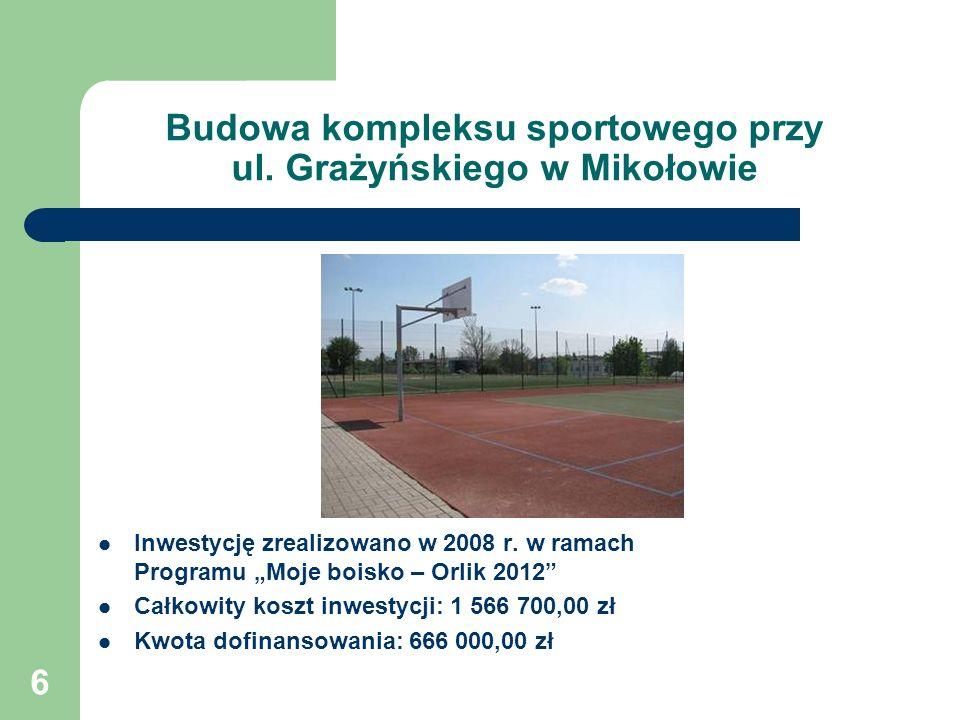 Budowa kompleksu sportowego przy ul. Grażyńskiego w Mikołowie
