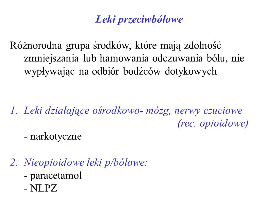 Leki przeciwbólowe