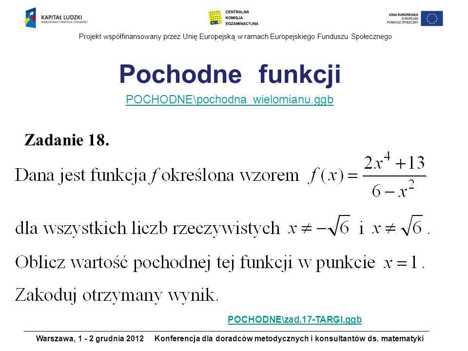 Pochodne funkcji Zadanie 18. POCHODNE\pochodna_wielomianu.ggb