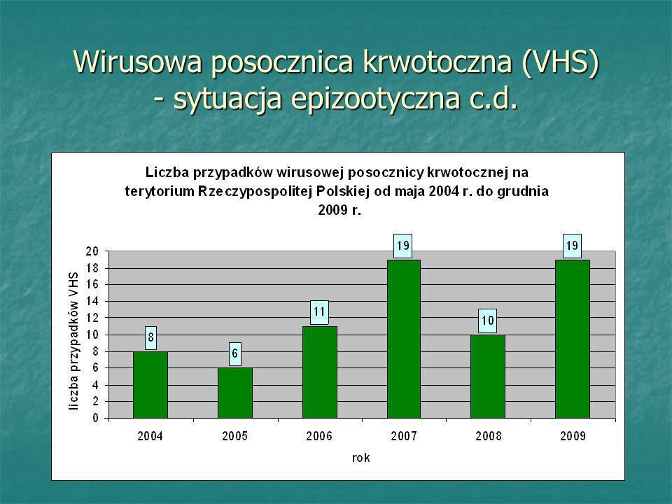 Wirusowa posocznica krwotoczna (VHS) - sytuacja epizootyczna c.d.