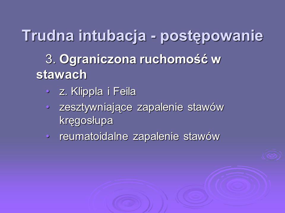 Trudna intubacja - postępowanie