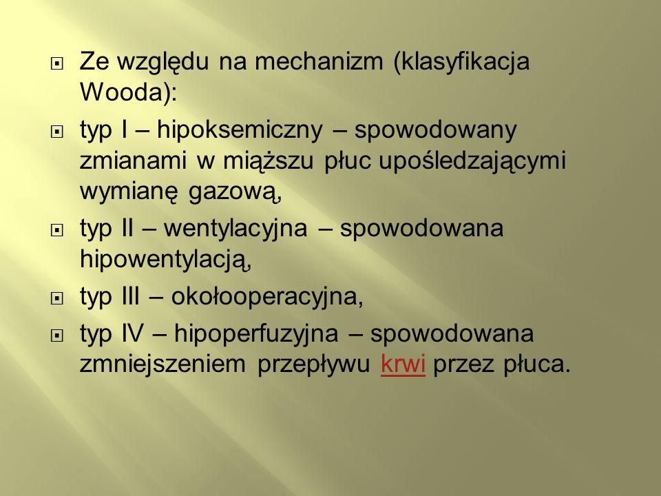 Ze względu na mechanizm (klasyfikacja Wooda):