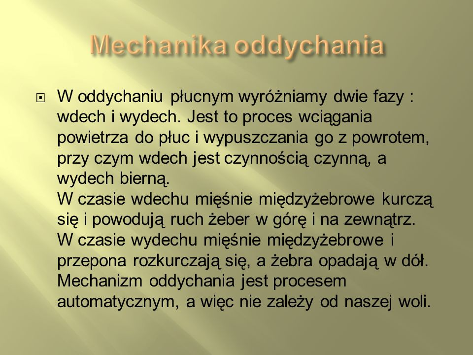 Mechanika oddychania