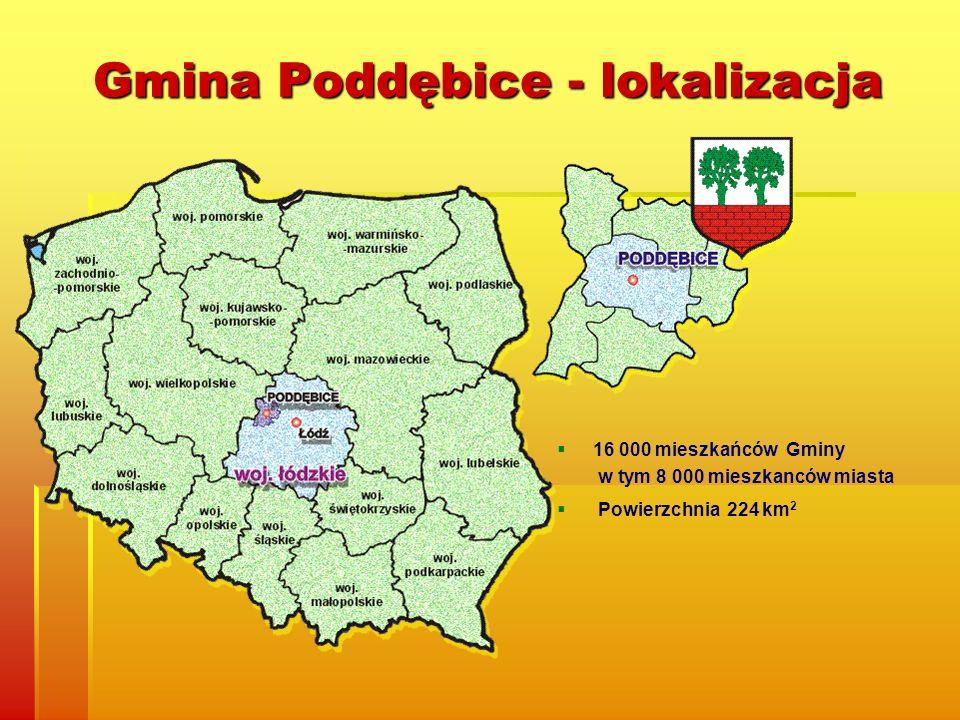 Gmina Poddębice - lokalizacja