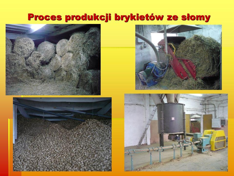 Proces produkcji brykietów ze słomy