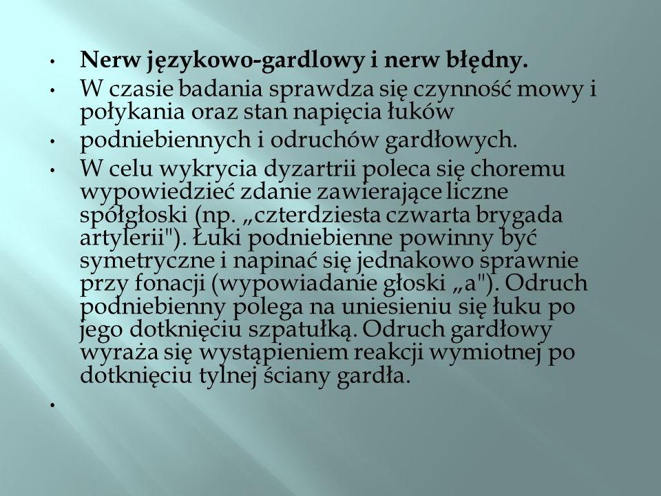 Nerw językowo-gardlowy i nerw błędny.