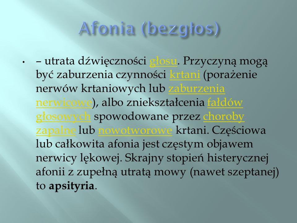 Afonia (bezgłos)
